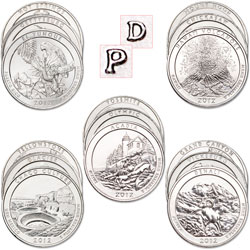 2010-2012 P&D America's National Park Quarter Set (30 coins)