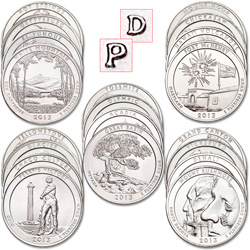 2010-2013 P&D America's National Park Quarter Set (40 coins)