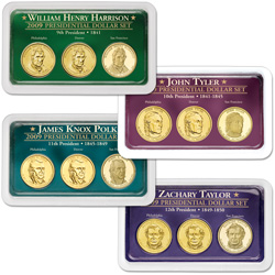 2009 All Four PDS Presidential Dollar Showpaks