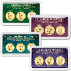 2013 All Four PDS Presidential Dollar Showpaks
