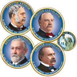 Buy All 4 Colorized 2012 Presidential Dollars