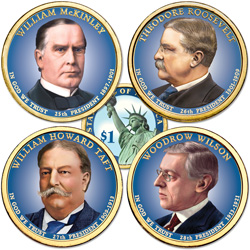 Buy All 4 Colorized 2013 Presidential Dollars