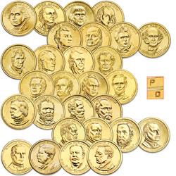 2007-2013 P&D Presidential Dollar Year Sets (56 coins)