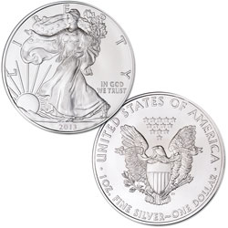 Ten 2013 $1 Silver American Eagles