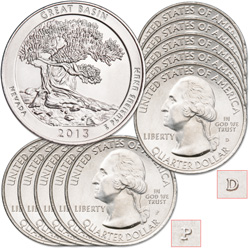 2013 5P & 5D Great Basin National Park Quarter Set