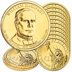 2013 10P & 10D William McKinley Presidential Dollar Set