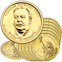 2013-P Ten William Howard Taft Presidential Dollars