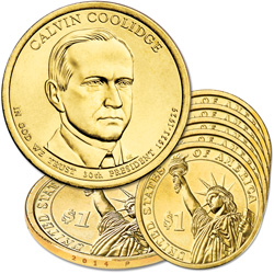 2014-P Five Calvin Coolidge Presidential Dollars