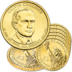 2014-D Five Calvin Coolidge Presidential Dollars