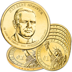 2014-P Five Herbert Hoover Presidential Dollars