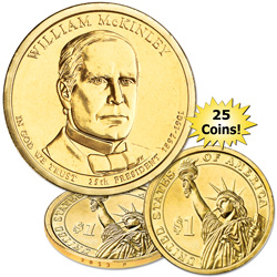 2013-P Twenty-Five William McKinley Presidential Dollars