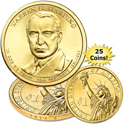 2014-D Twenty-Five Warren G. Harding Presidential Dollars
