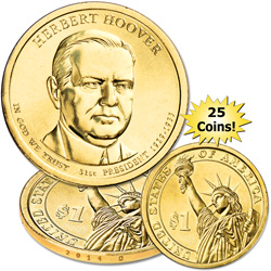 2014-D Twenty-Five Herbert Hoover Presidential Dollars