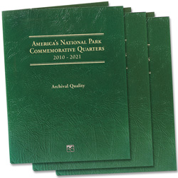2010-2021 Buy 3 America's National Park Quarter Series Classic Folders