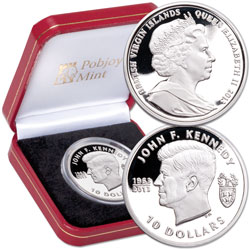 2013 British Virgin Islands Silver $10 John F. Kennedy