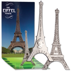 2014 British Virgin Islands Nickel $1 Eiffel Tower