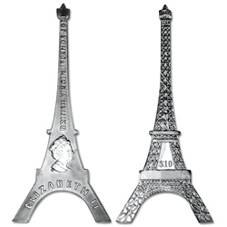 2014 British Virgin Islands Silver $10 Eiffel Tower