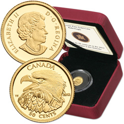 2013 Canada 1/25 oz. Gold 50 Cent Bald Eagle