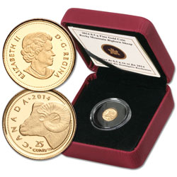 2014 Canada 1/2 Gram Gold Bighorn Sheep