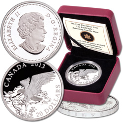 2013 Canada Silver $20 Bald Eagle - Return From the Hunt
