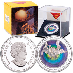 2013 Canada Silver Hologram $20 Superman