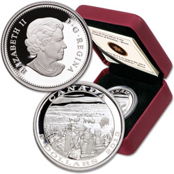 2013 Canada Silver $5 Bison Hunting