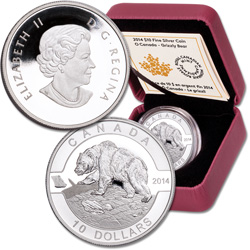 2014 Canada Silver $10 Grizzly Bear