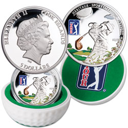 2013 Cook Islands Silver $5 PGA Tour
