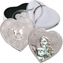 2013 Cameroon 92.5% Silver Heart of Love