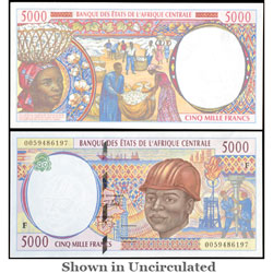 ND(2000) Central African States 5,000 Francs, P#304F
