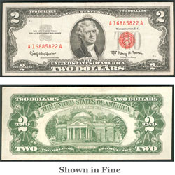 $2 1963A Legal Tender Note