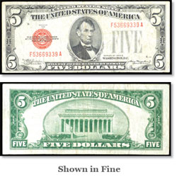 $5 1928C Legal Tender Note