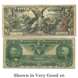 Series 1896, $5 Note, Tillman-Morgan
