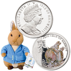 2011 Isle of Man Copper-Nickel Colorized Peter Rabbit Crown