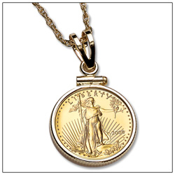 $5 American Gold Eagle Necklace