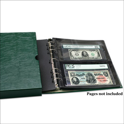 Paper Money Binder with Slipcase (pages not included)