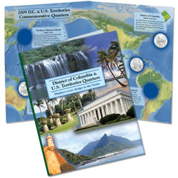 2009 D.C. & U.S. Territories Colorful Quarter Folder