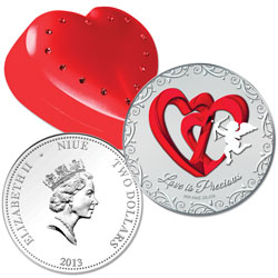 2013 Niue Silver $2 Love is Precious