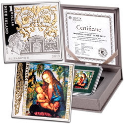 2013 Niue Silver $1 Masterpieces of Renaissance Series - Madonna Under the Fir Tree