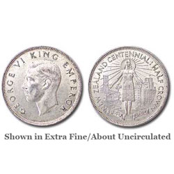 1940 New Zealand Silver Half Crown