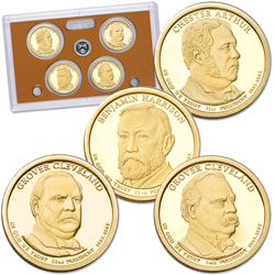 2012-S U.S. Mint Presidential Dollar Proof Set (4 coins)