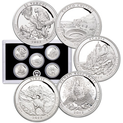 2012-S America's National Park Quarters 90% Silver Proof Set (5 coins)