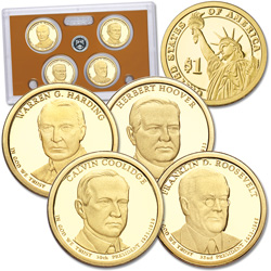 2014-S U.S. Mint Presidential Dollar Proof Set (4 coins)