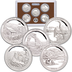 2014-S America's National Park Quarters Clad Proof Set