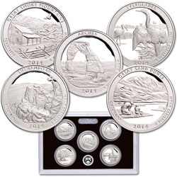 2014-S America's National Park Quarters 90% Silver Proof Set