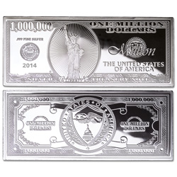 2014 4 oz. Silver Million Dollar Bill