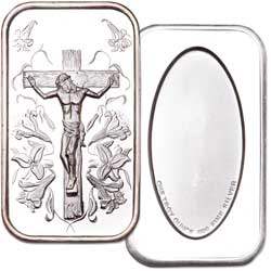 1 oz. 99.9% Silver Jesus Bar