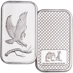 1 oz. Silver Bald Eagle Bar