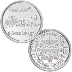 Season's Greetings Silver Round