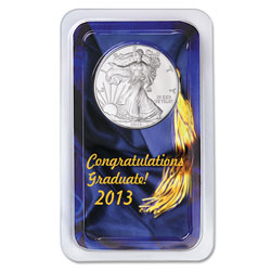 2013 Silver American Eagle in Graduation Showpak